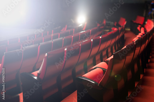 Recess Fitting Theater red theater seats