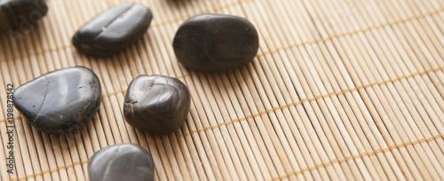 Photo sur Plexiglas Zen pierres a sable galets chaud de massage relaxant