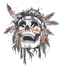Indian Skull Illustration