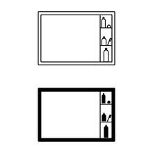 Icon Of Bathroom Equipment Vec...