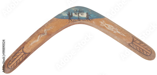 Old wooden boomerang Wallpaper Mural