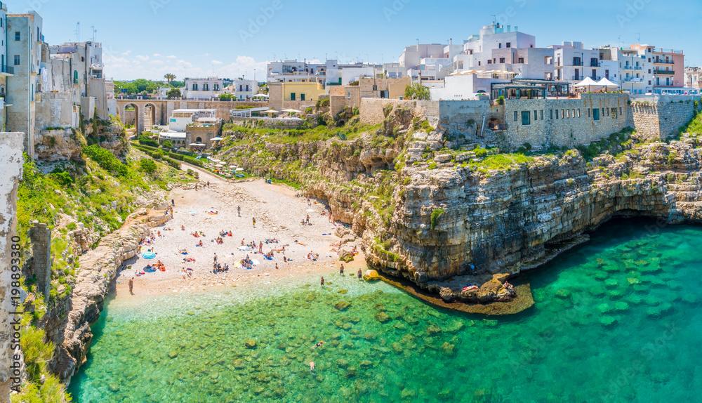 Fototapety, obrazy: Scenic sight in Polignano a Mare, Bari Province, Apulia (Puglia), southern Italy.
