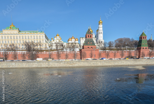 Photo  Moscow Kremlin and embankment.