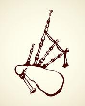 Bagpipes. Vector Drawing