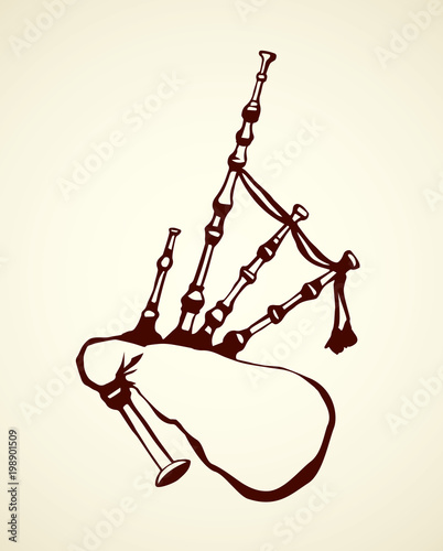 Fotografering Bagpipes. Vector drawing