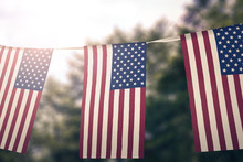 Flag Of United States Of America Hanging Pennants