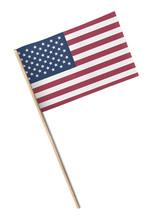 Mini American Flag Isolated On...