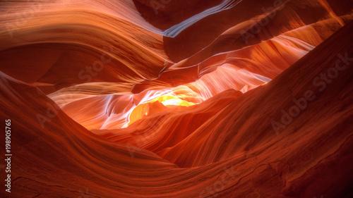 Spoed Fotobehang Antilope Canyon Sunset