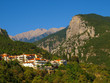 The town of Litochoro with Mount Olympus in the background