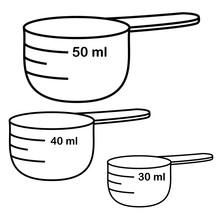 Measure Cups. Vector Set