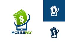 Mobile Pay Logo Template Design Vector, Emblem, Design Concept, Creative Symbol, Icon