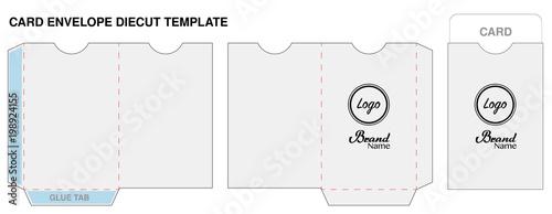 Cuadros en Lienzo key card envelope die-cut template mockup vector