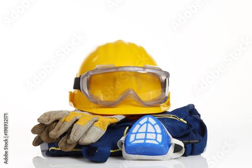 Fotografie, Obraz  safety equipment on white background