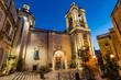 St. Lawrence's Church at night, Birgu,Malta