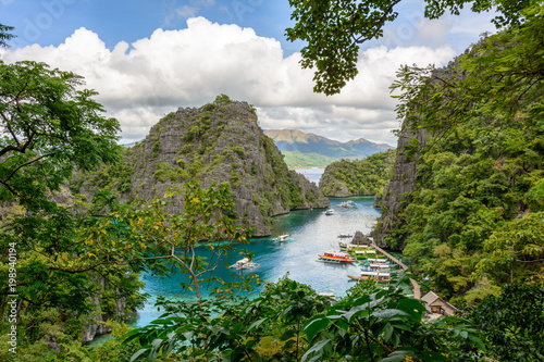 Foto op Canvas Guilin Landscape of the Coron Island bay, Palawan. The Philippines