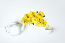 Pouring Yellow Chrysanthemums ...