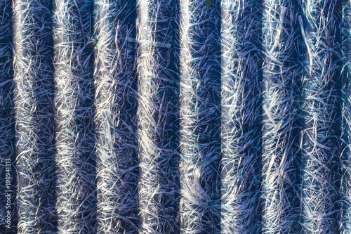 Photo abstraction of blue textolite slate, fiberglass, blue background