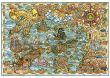Old Map Of Fantasy Lands With ...
