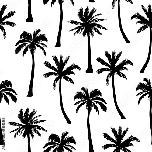 mata magnetyczna Vector seamless pattern with palm trees