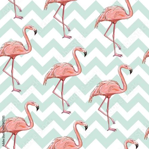 bezszwowe-wektor-wzor-flamingo