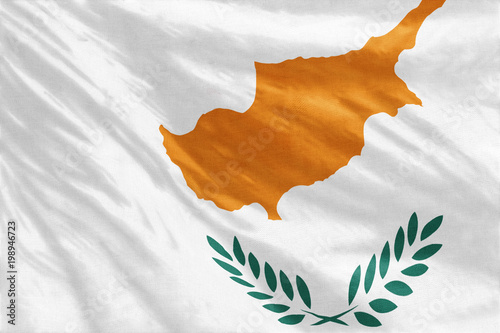 Flag of Cyprus full frame close-up