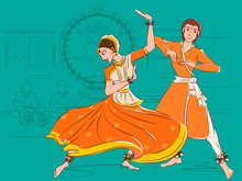 Couple Performing Kathak Class...