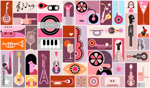 Staande foto Abstractie Art Music Background Design