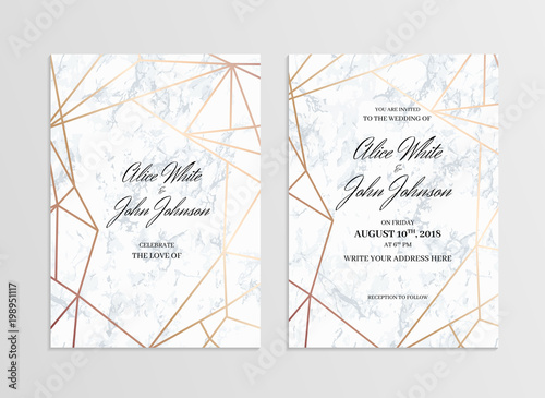 Invitation Card Template Of Geometric Design Two Side Invitation
