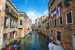 Street scene in Venice, Italy.