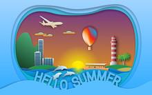 Hello Summer Vector Illustrati...
