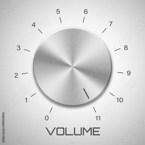 Cuadros en Lienzo  Metal volume control knob that goes to eleven