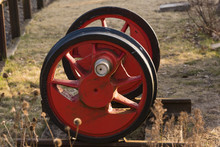 Altes Eisenbahnrad, Schienenra...