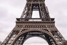 Close Up Eiffel Tower In Paris