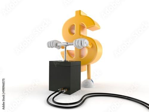 Papel de parede Dollar character with detonator