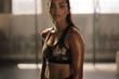 Leinwanddruck Bild - Sportswoman after intense crossing training session