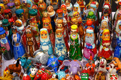Fotografering  Traditional russian toys