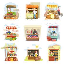 Street Vendor Booth And Farm M...