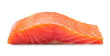 Smoked Salmon Fillet Isolated ...