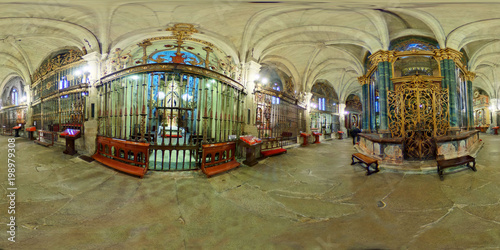 Ambulatory of the cathedral of Santa Maria of Lugo. GPanorama 360. Gallicia. Spain.