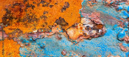 Fotografia Textura de metal com ferrugem