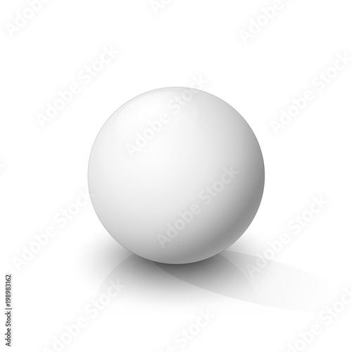 Canvas Print White sphere