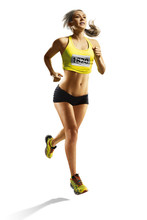 Young Fitness Woman Runner Iso...