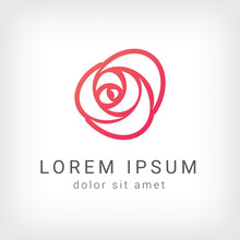 Rose Vector Logo Design Templa...