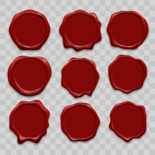 Stamp Wax Seal Vector Icons Se...