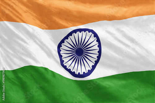 Photo  Flag of India full frame close-up