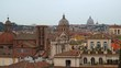 Panoramic view of historic center of Rome