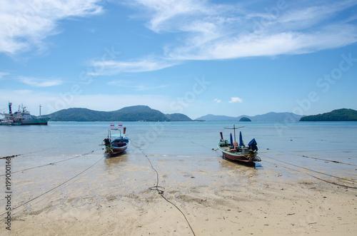 Tuinposter China boat and sea
