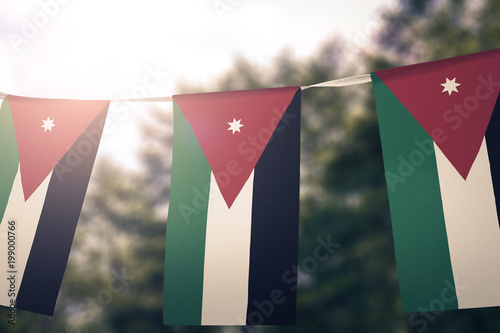 Fotografie, Obraz  Jordan flag pennants