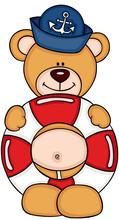 Sailor Teddy Bear With A Float