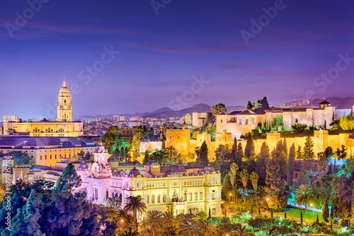 Pinturas sobre lienzo  Malaga, Spain Skyline